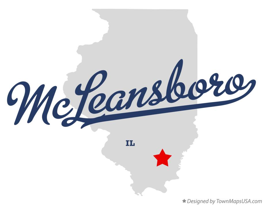 Map of McLeansboro Illinois IL