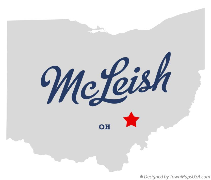 Map of McLeish Ohio OH