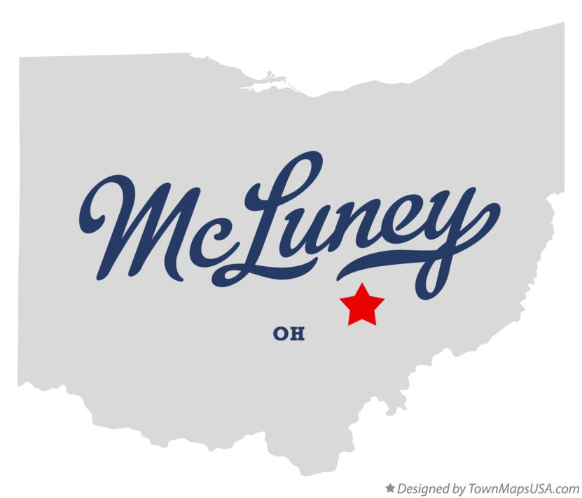 Map of McLuney Ohio OH