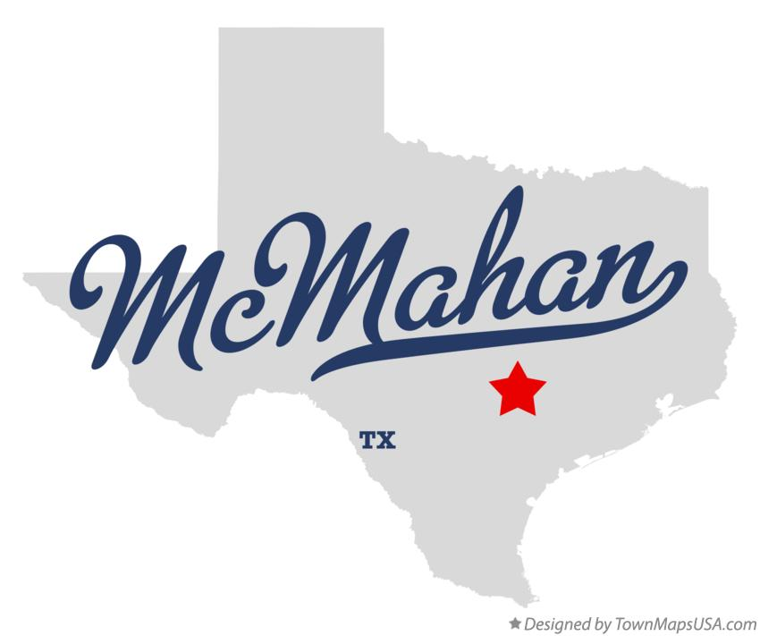 Map of McMahan Texas TX