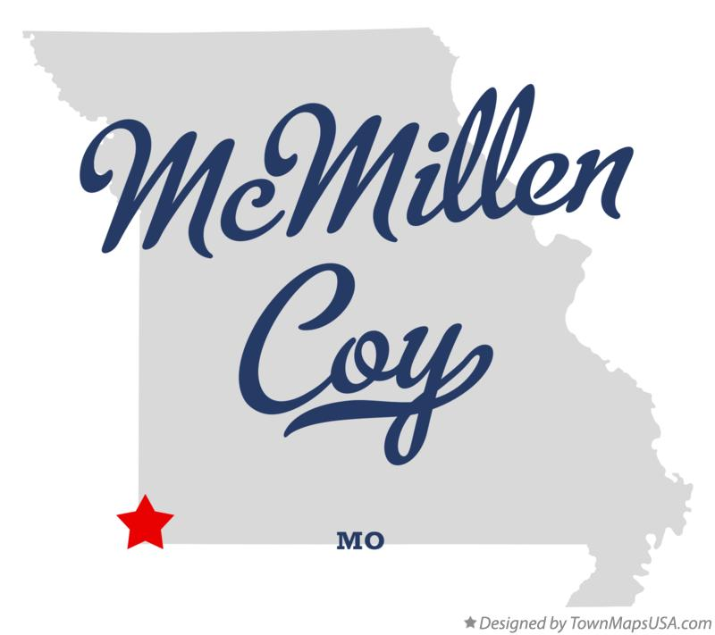 Map of McMillen Coy Missouri MO