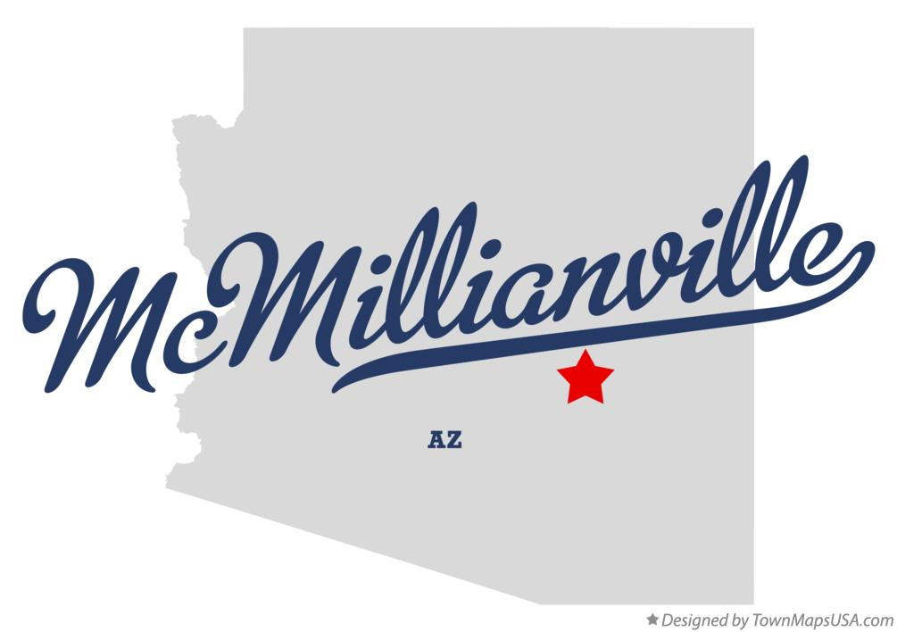 Map of McMillianville Arizona AZ