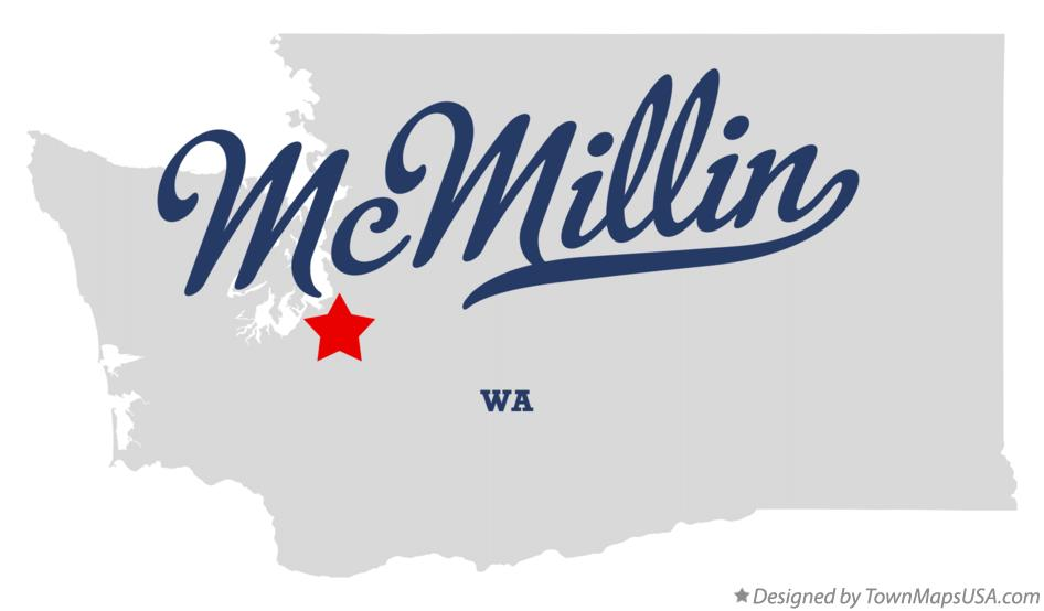 Map of McMillin Washington WA