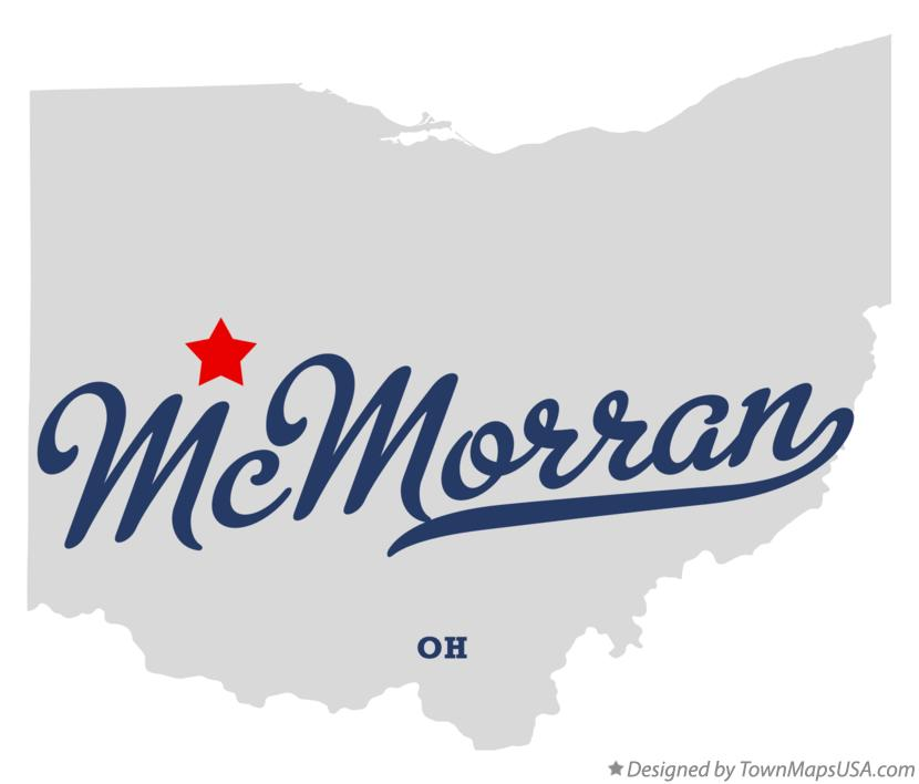 Map of McMorran Ohio OH