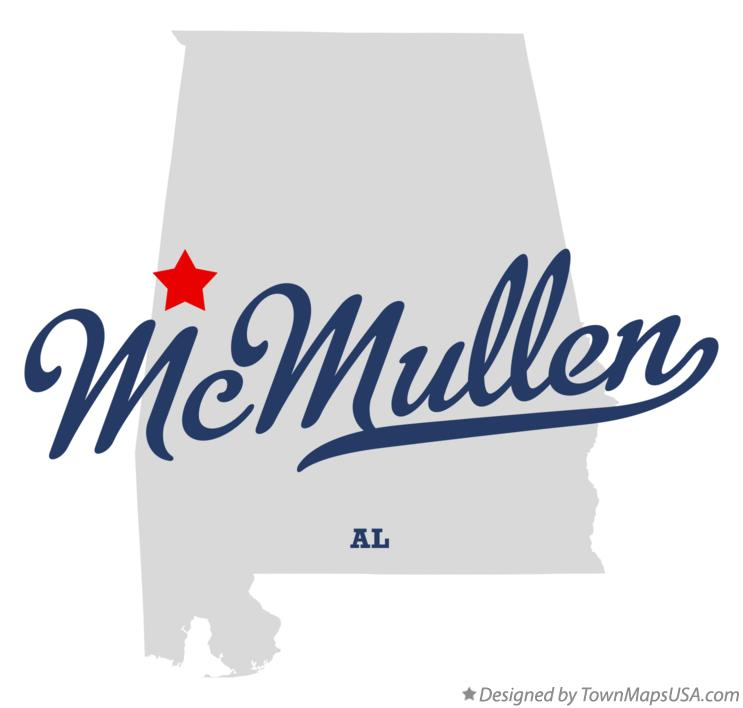 Map of McMullen Alabama AL