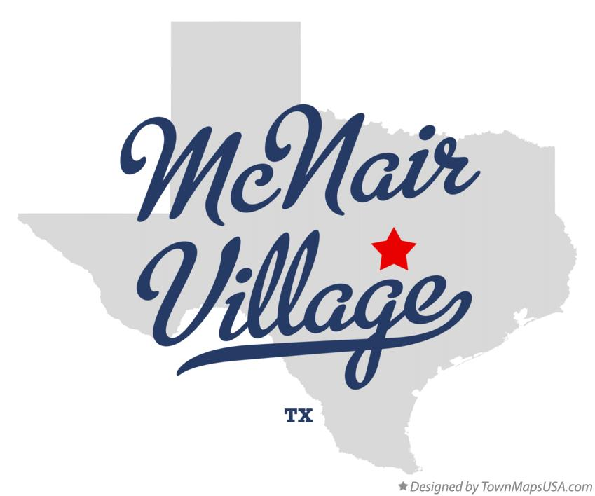 Map of McNair Village Texas TX