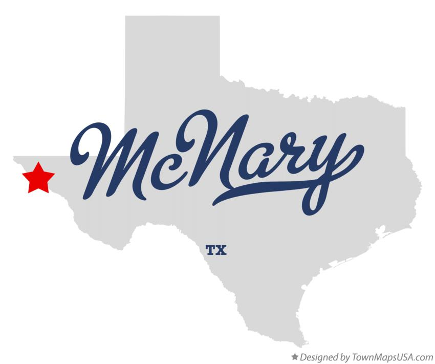 Map of McNary Texas TX