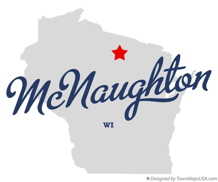 Map of McNaughton Wisconsin WI