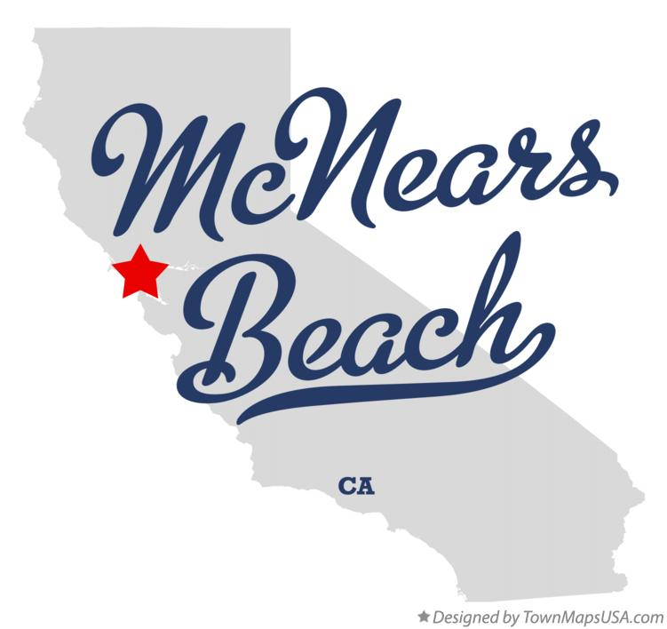 Map of McNears Beach California CA