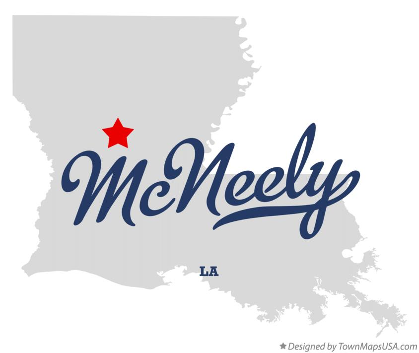 Map of McNeely Louisiana LA