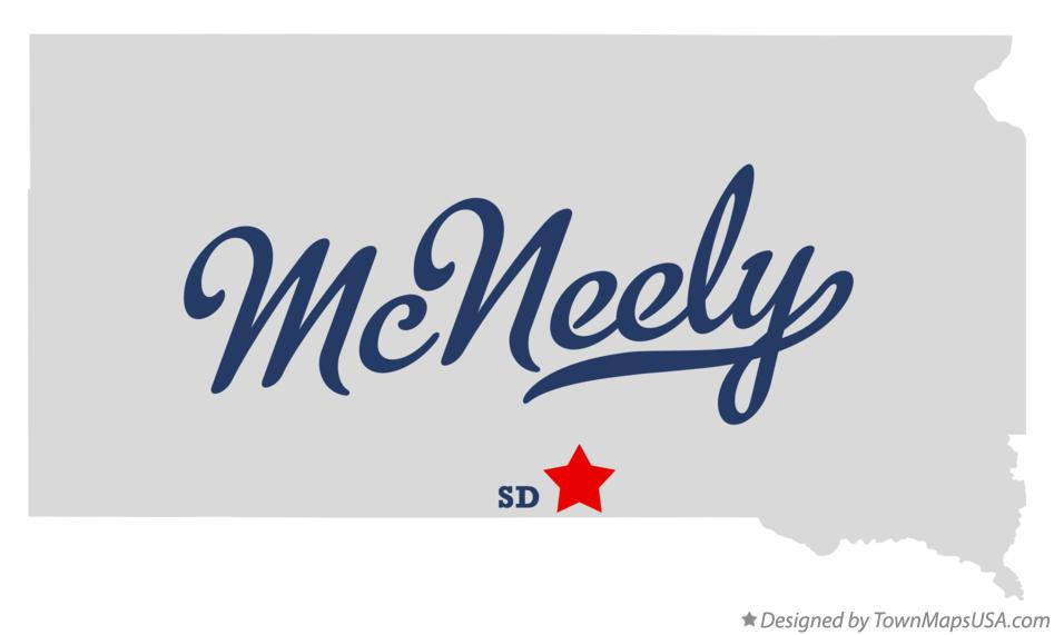 Map of McNeely South Dakota SD
