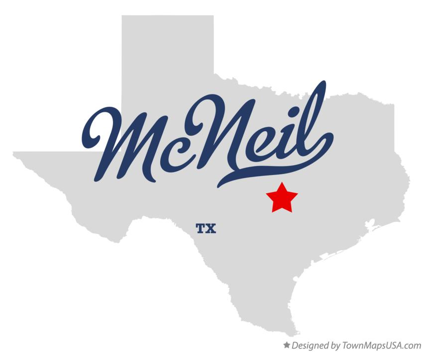 Map of McNeil Texas TX