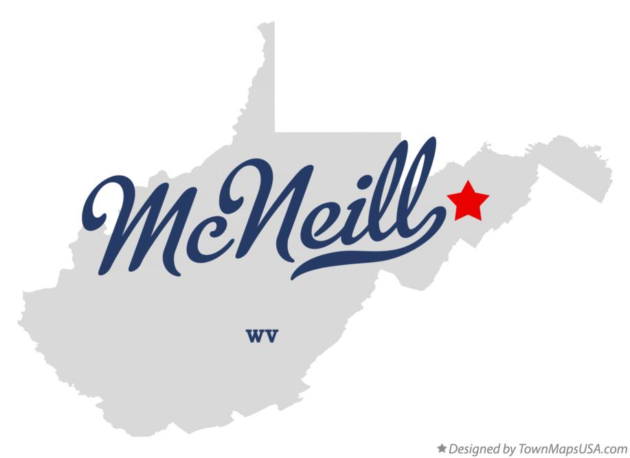 Map of McNeill West Virginia WV