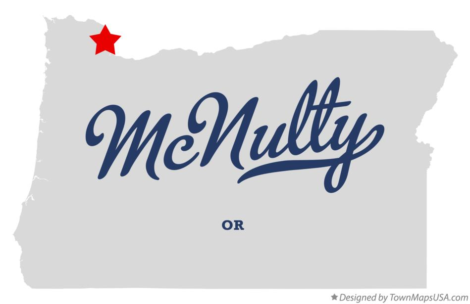 Map of McNulty Oregon OR