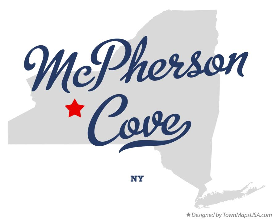 Map of McPherson Cove New York NY