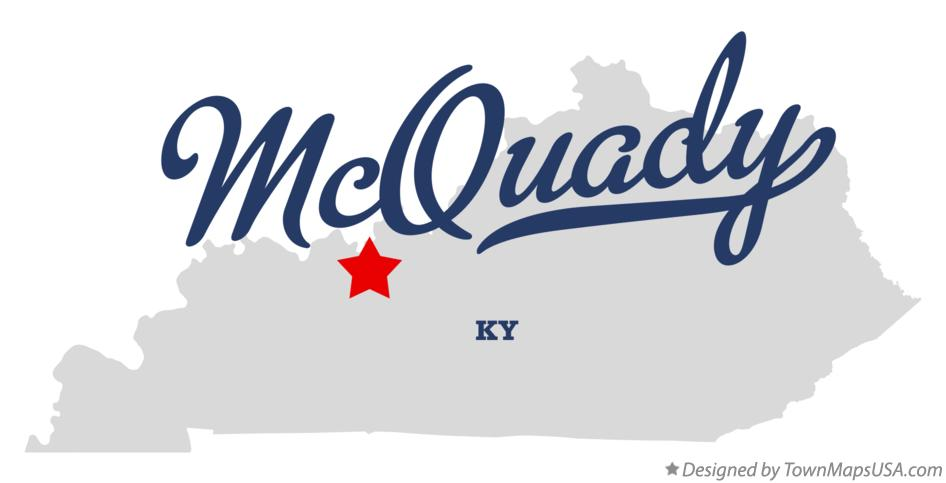 Map of McQuady Kentucky KY