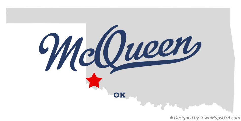 Map of McQueen Oklahoma OK
