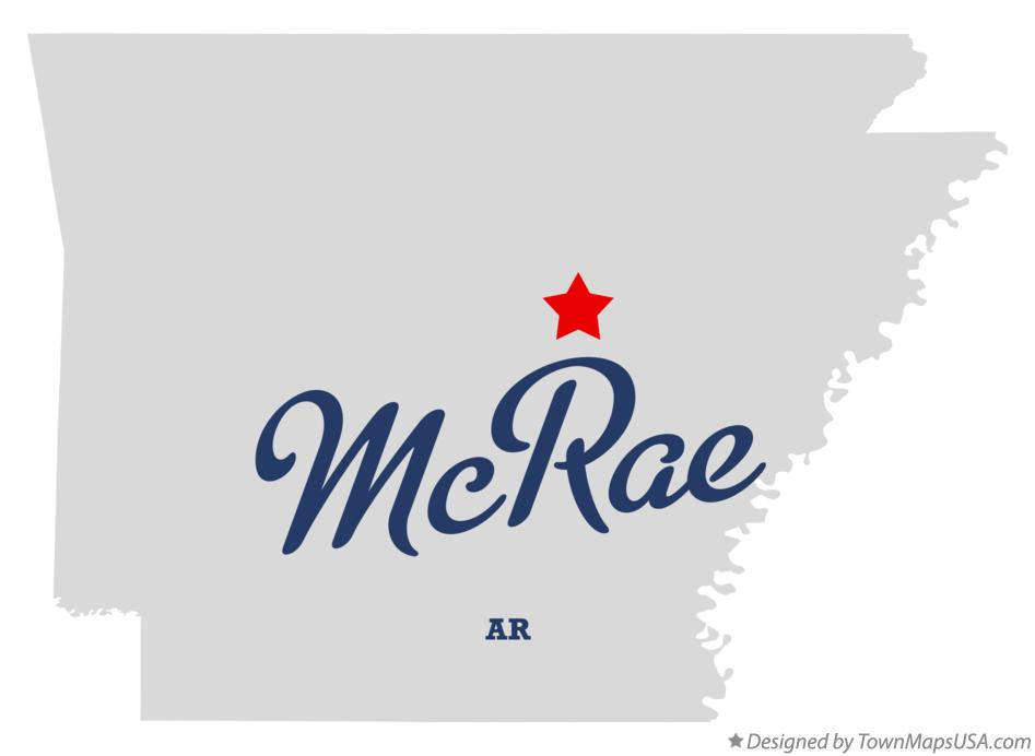Map of McRae Arkansas AR