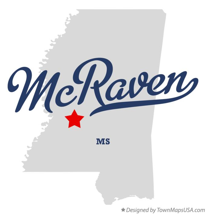 Map of McRaven Mississippi MS