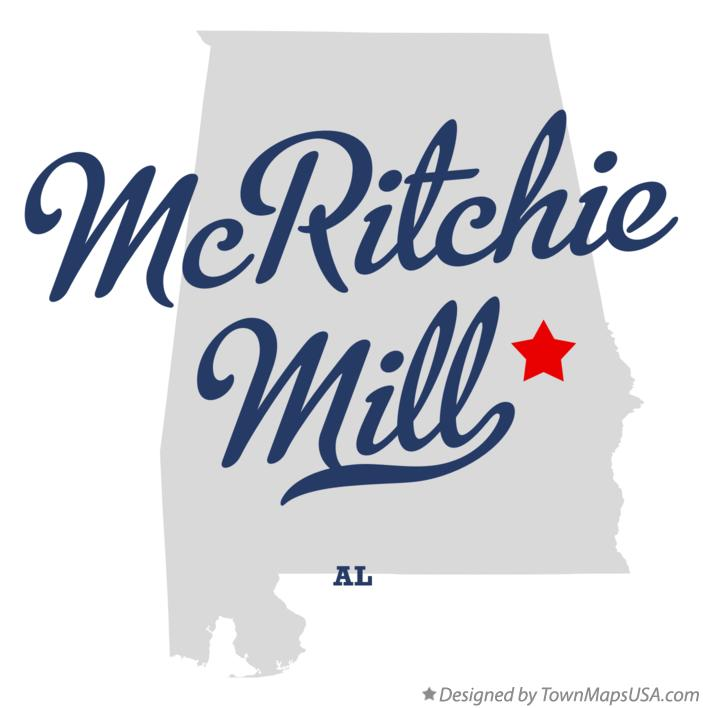 Map of McRitchie Mill Alabama AL