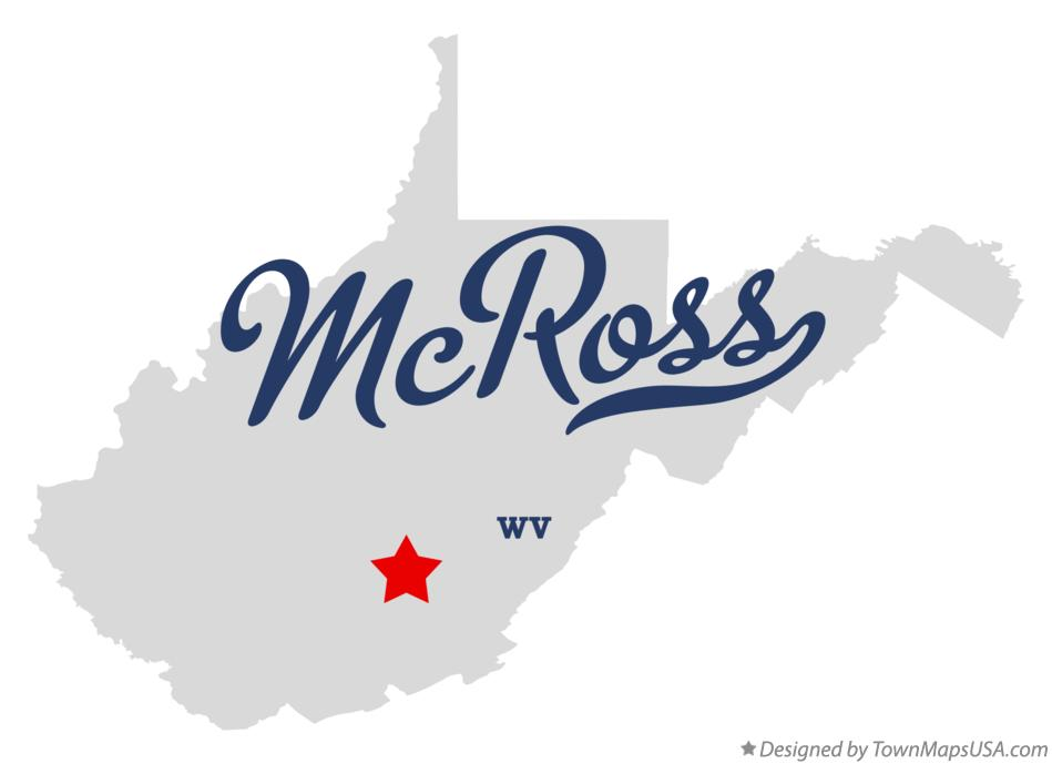 Map of McRoss West Virginia WV