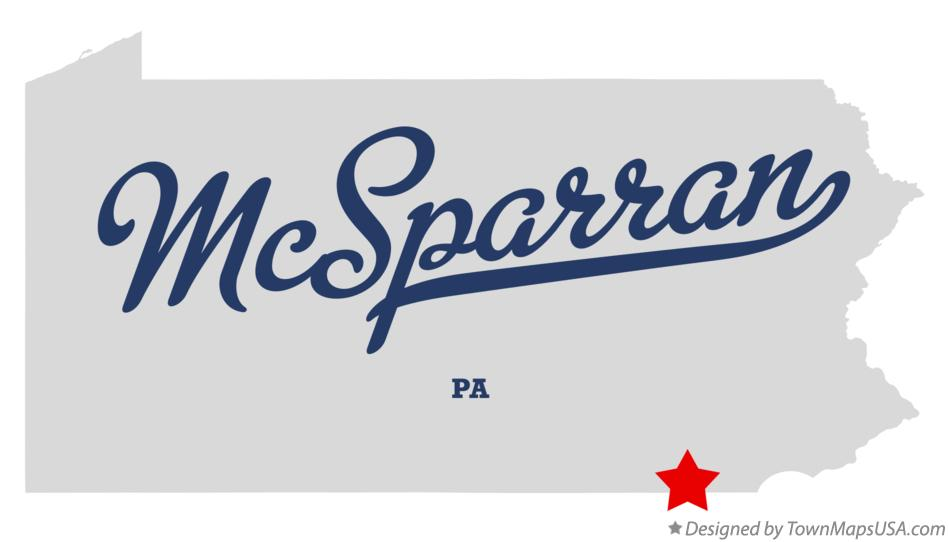 Map of McSparran Pennsylvania PA