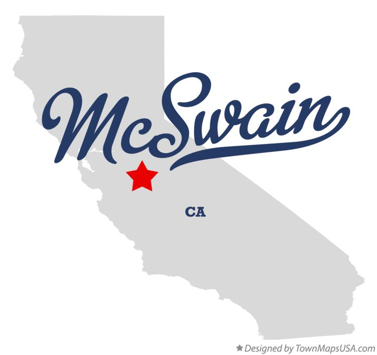 Map of McSwain California CA