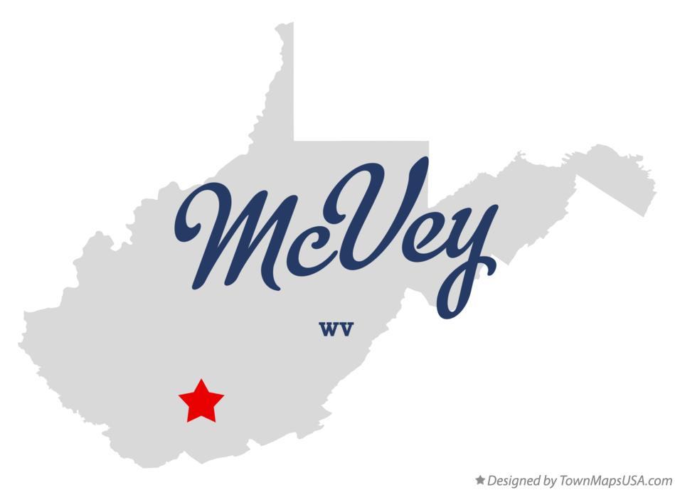 Map of McVey West Virginia WV