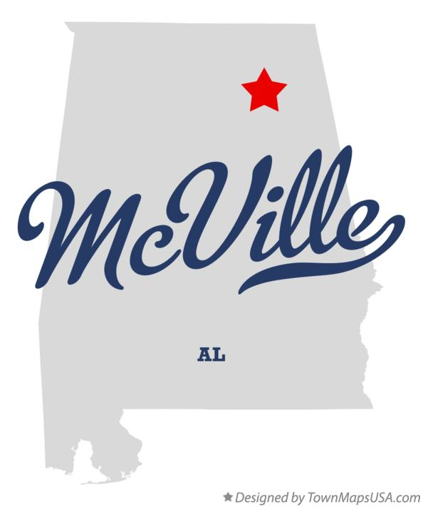 Map of McVille Alabama AL