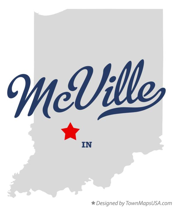Map of McVille Indiana IN