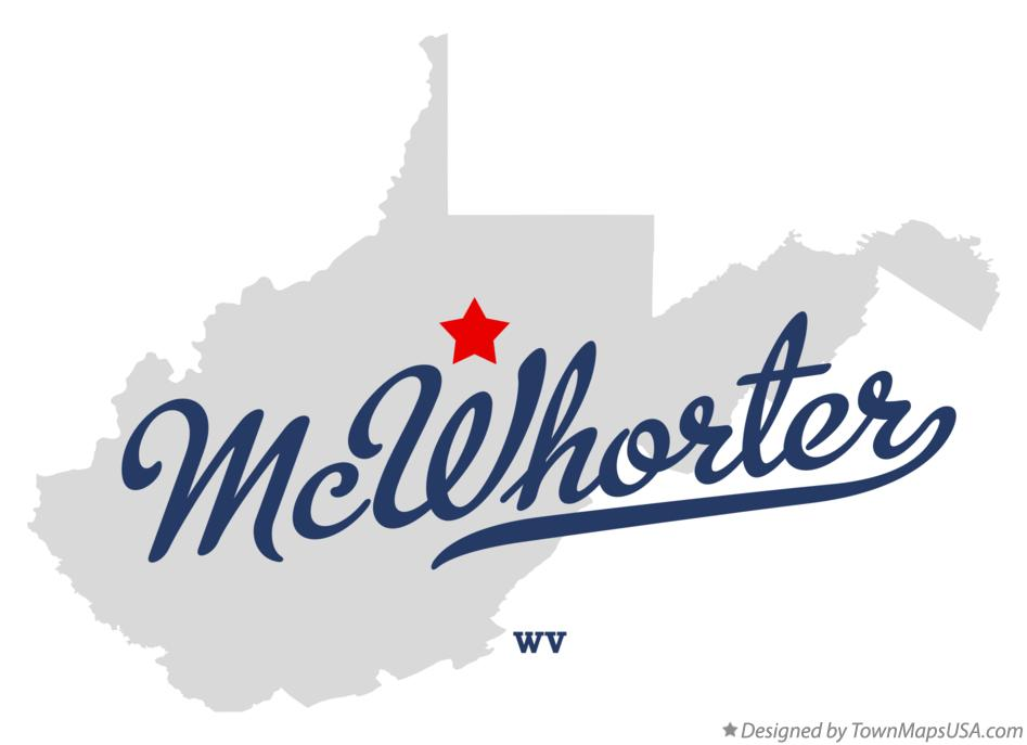 Map of McWhorter West Virginia WV