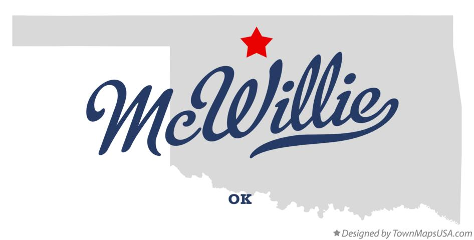 Map of McWillie Oklahoma OK