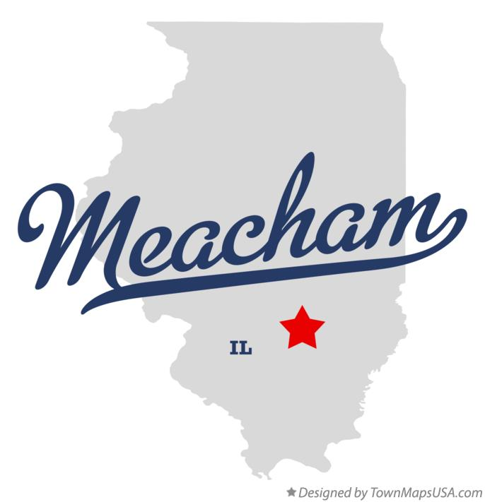 Map of Meacham Illinois IL