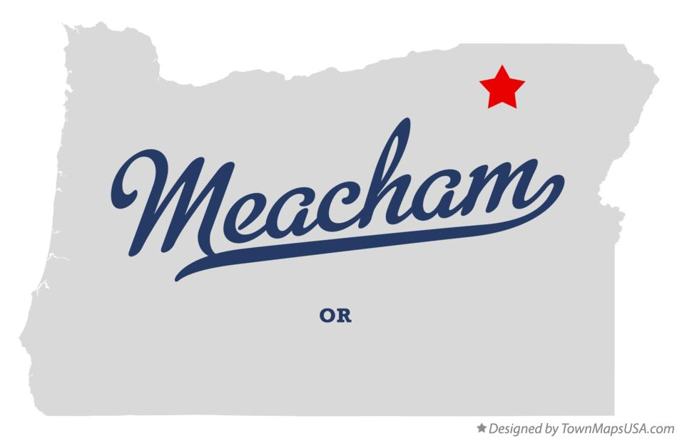 Map of Meacham Oregon OR