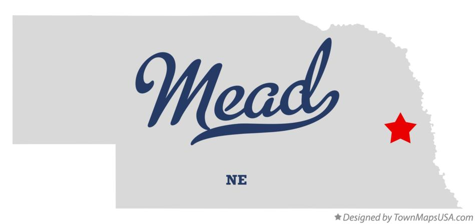 Map of Mead Nebraska NE