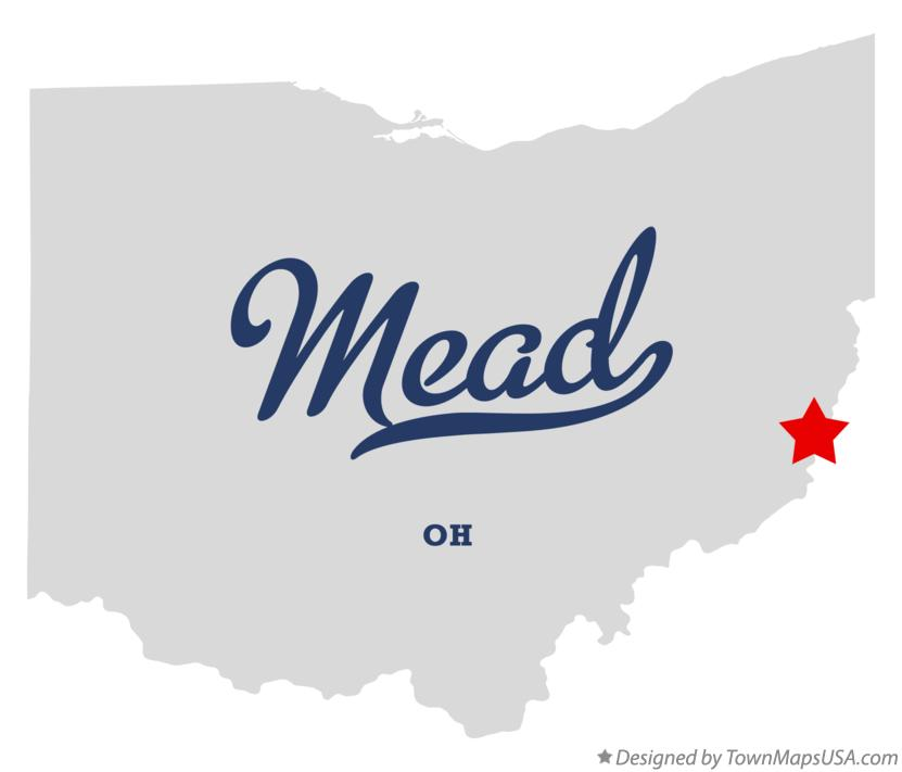 Map of Mead Ohio OH