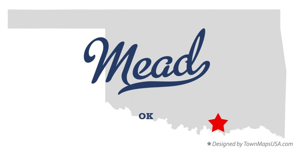Map of Mead Oklahoma OK