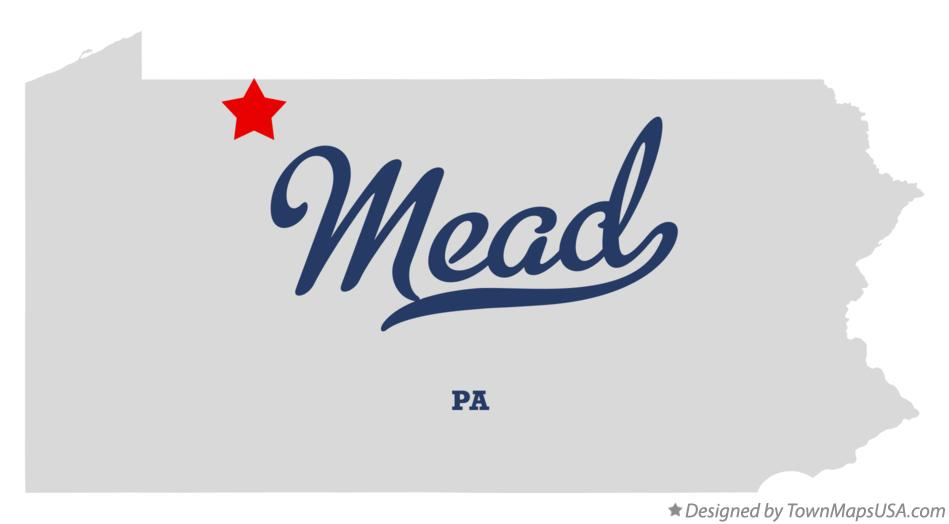 Map of Mead Pennsylvania PA