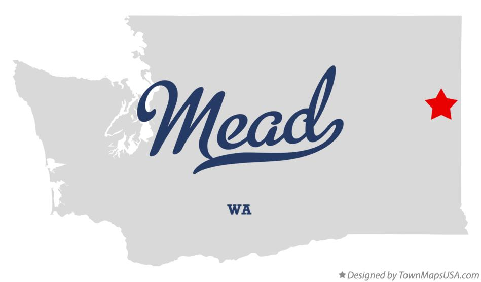 Map of Mead Washington WA