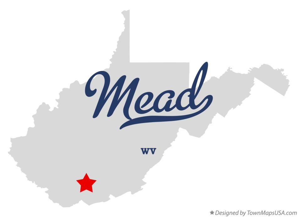 Map of Mead West Virginia WV