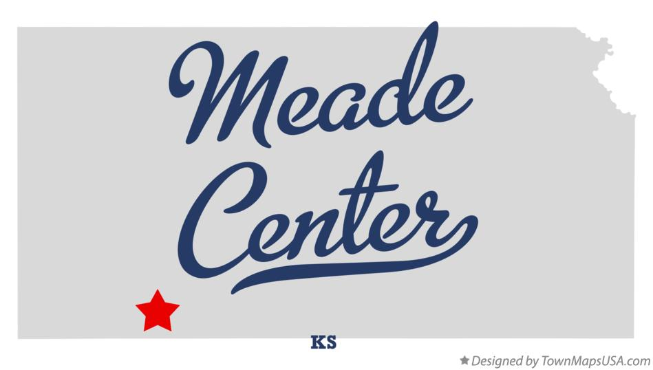 Map of Meade Center Kansas KS