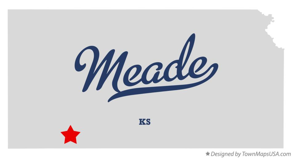 Map of Meade Kansas KS