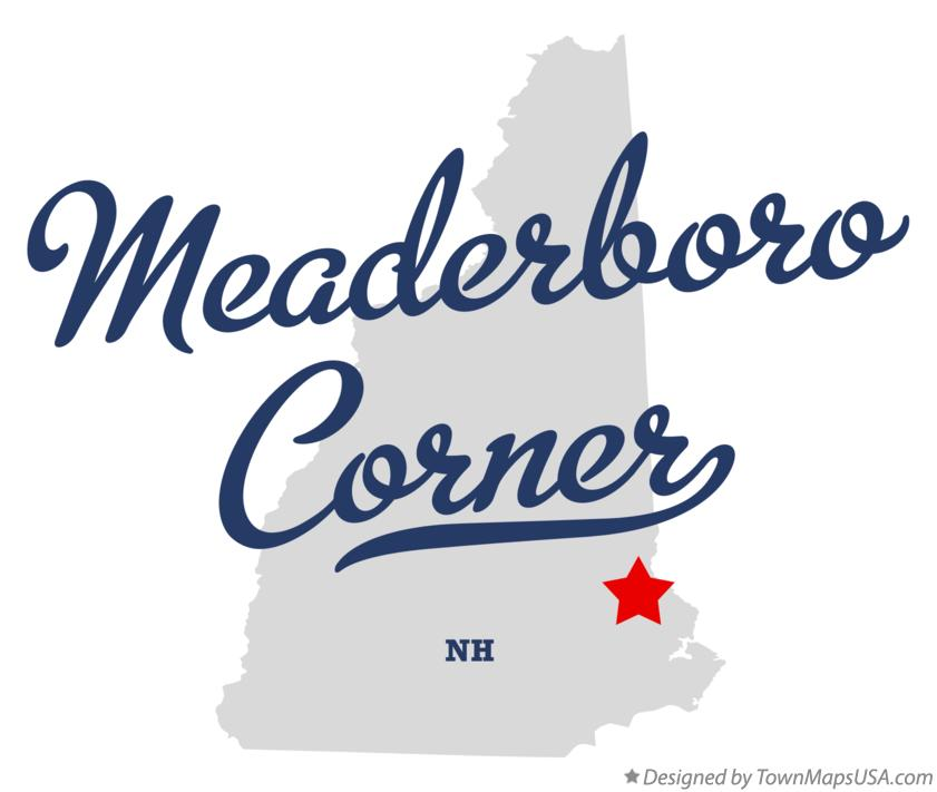 Map of Meaderboro Corner New Hampshire NH