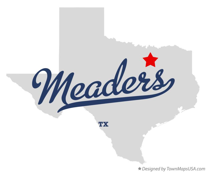 Map of Meaders Texas TX