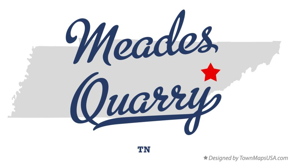 Map of Meades Quarry Tennessee TN