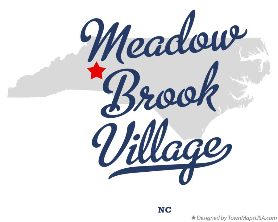 Map of Meadow Brook Village North Carolina NC