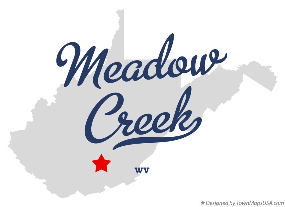 Map of Meadow Creek West Virginia WV