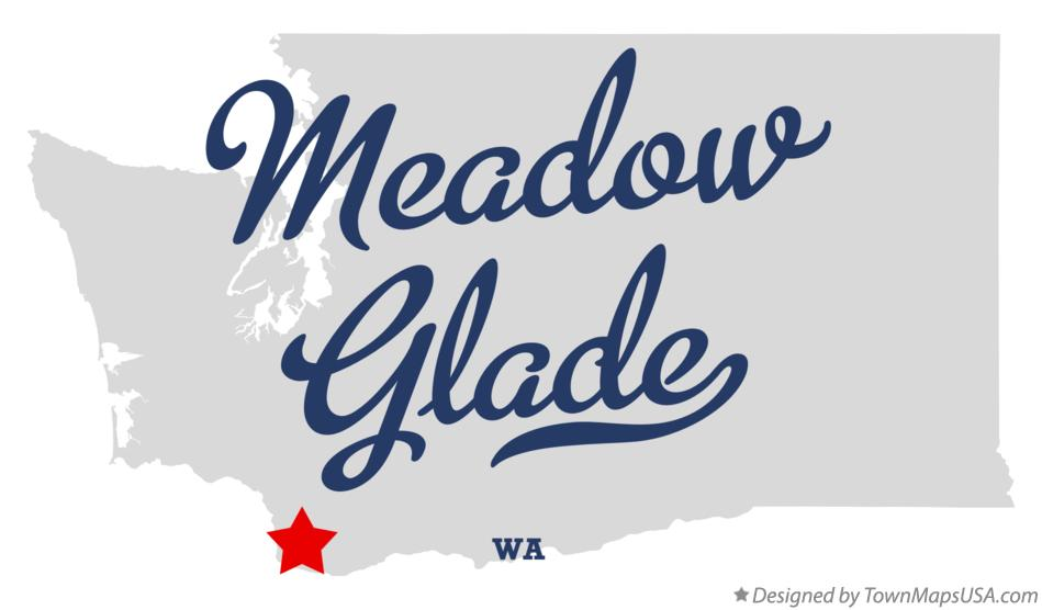 Map of Meadow Glade Washington WA