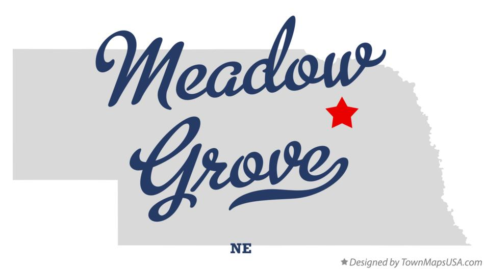 Map of Meadow Grove Nebraska NE
