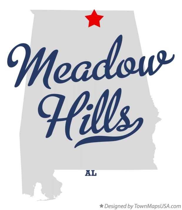 Map of Meadow Hills Alabama AL